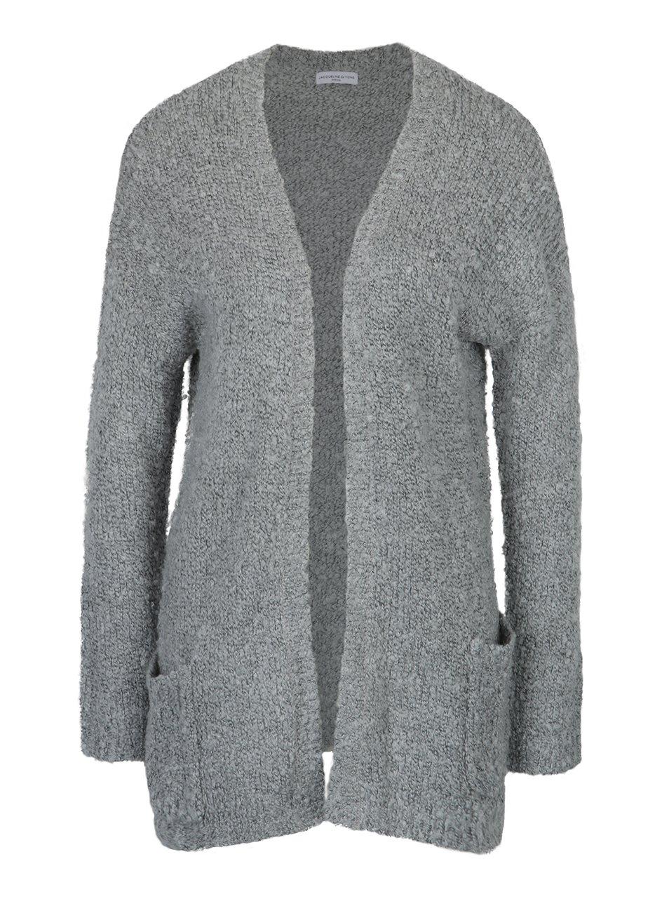 Světle šedý cardigan s kapsami Jacqueline de Yong Rio