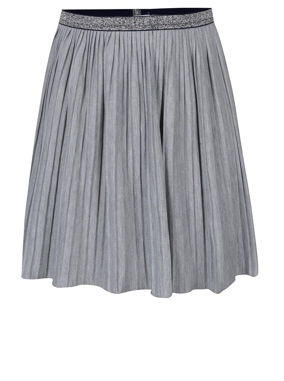 Šedá holčičí plisovaná sukně 5.10.15.