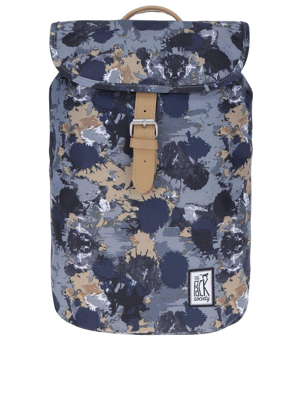 Šedo-modrý maskáčkový batoh The Pack Society 10 l