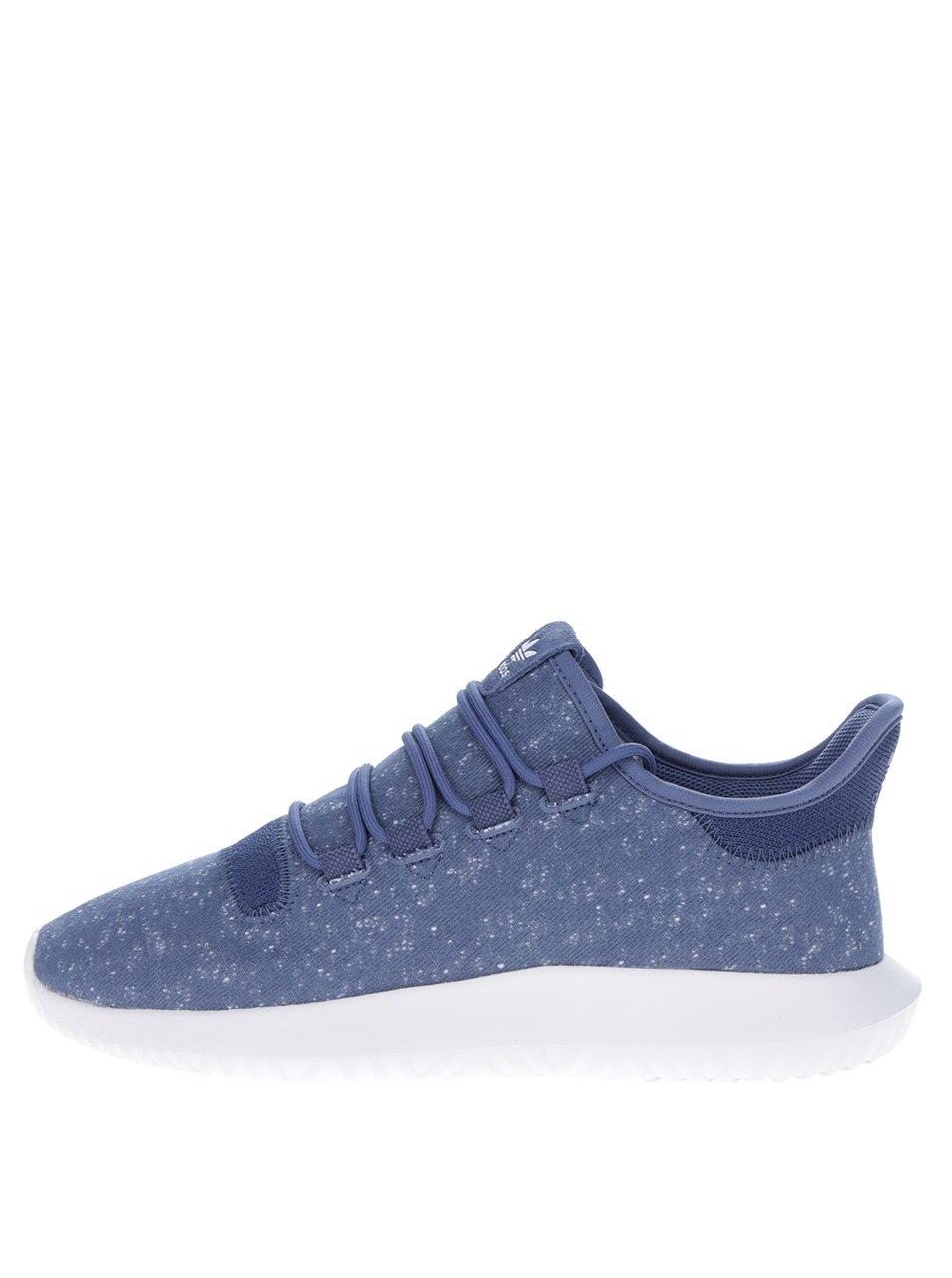 Modré žíhané pánské tenisky adidas Originals Tubular Shadow