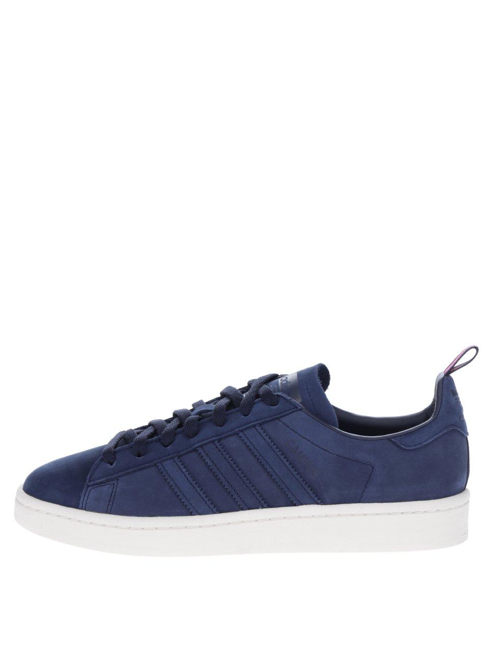 Tmavě modré pánské kožené tenisky adidas Originals Campus 13b8e1fcb9