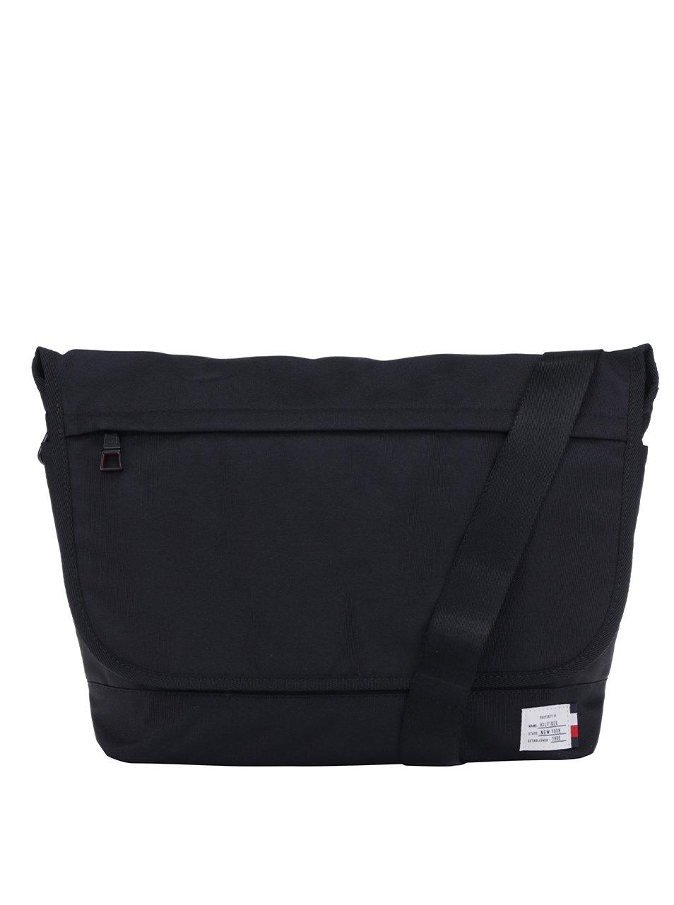 Černá pánská taška na notebook Tommy Hilfiger Tommy Manhattan