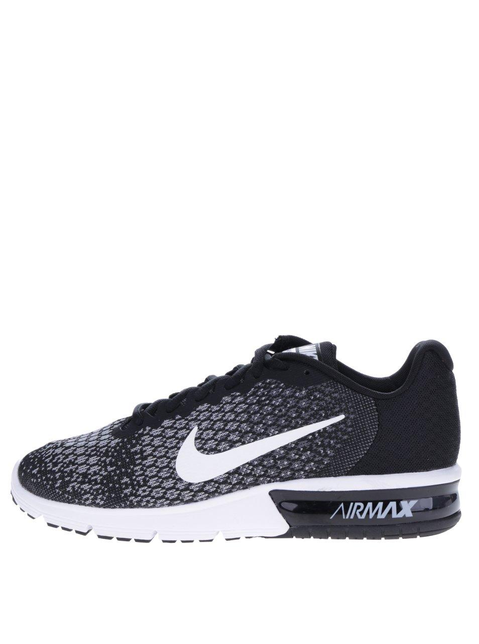 Šedo-černé pánské tenisky Nike Air Max Sequent