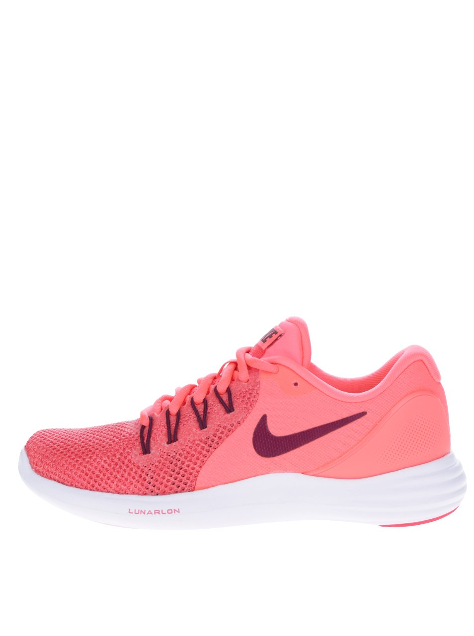 Neonově růžové dámské perforované tenisky Nike Lunar Apparent