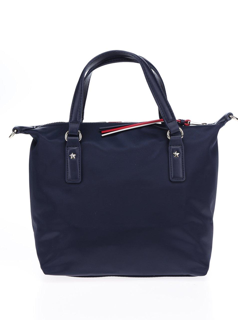 88d5e2b512 dalsi obrazek Tmavě modrá kabelka s pruhy Tommy Hilfiger Poppy Small Stripe
