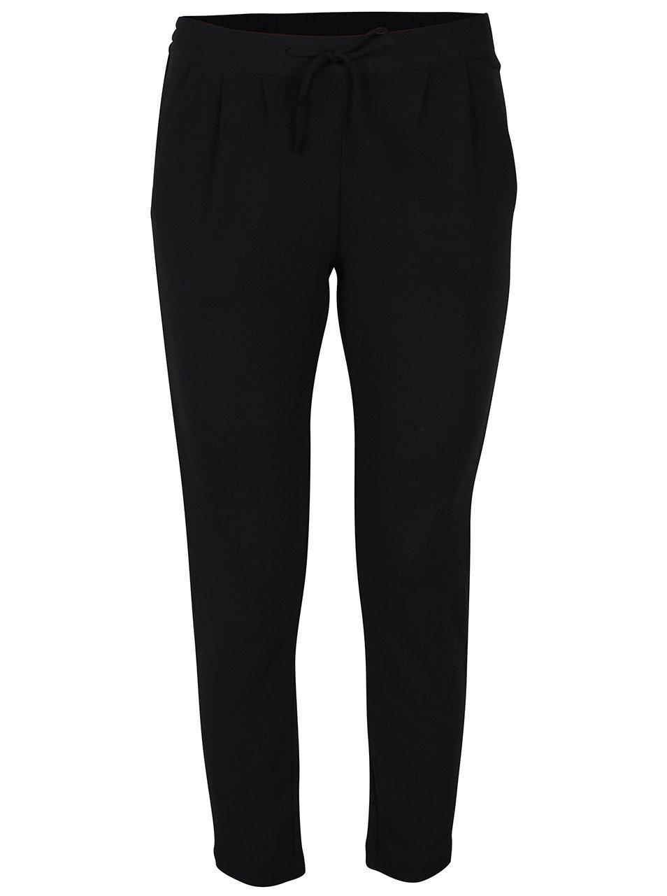Černé zkrácené kalhoty Jacqueline de Yong Jazzle