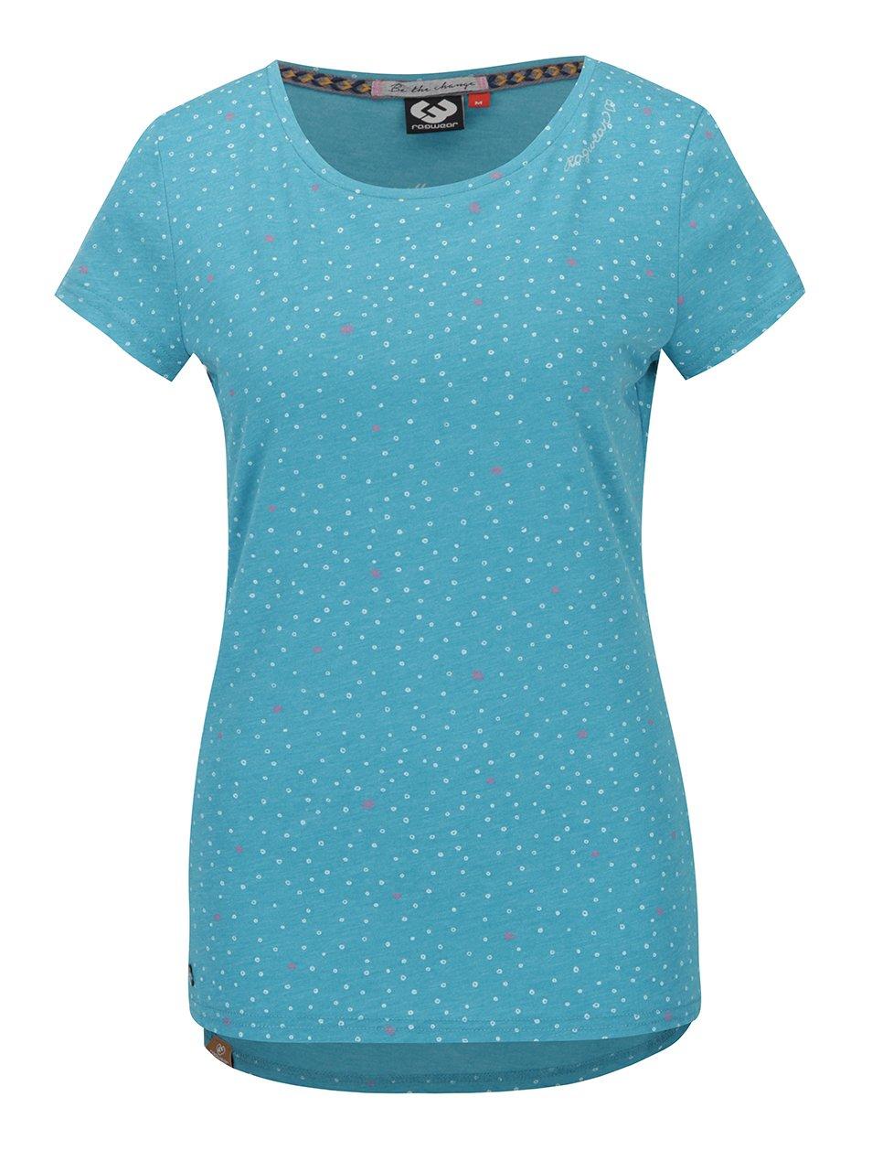 Tyrkysové dámské vzorované tričko Ragwear Mint Hearts