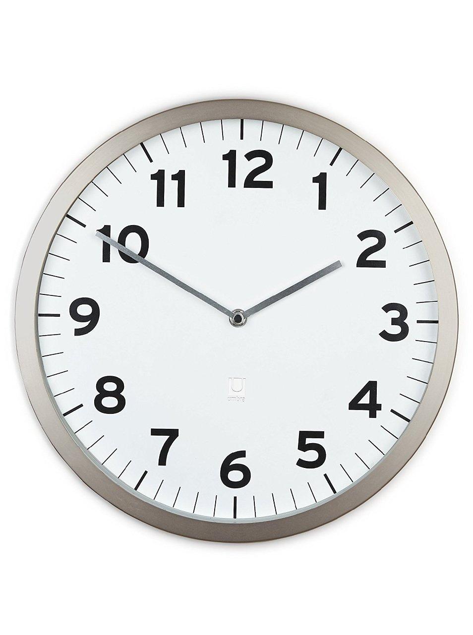 Bílé nástěnné hodiny Umbra Anytime