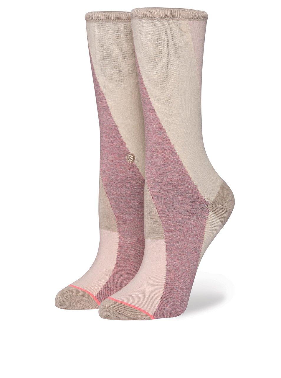Světle růžové dámské ponožky Stance Retrograde