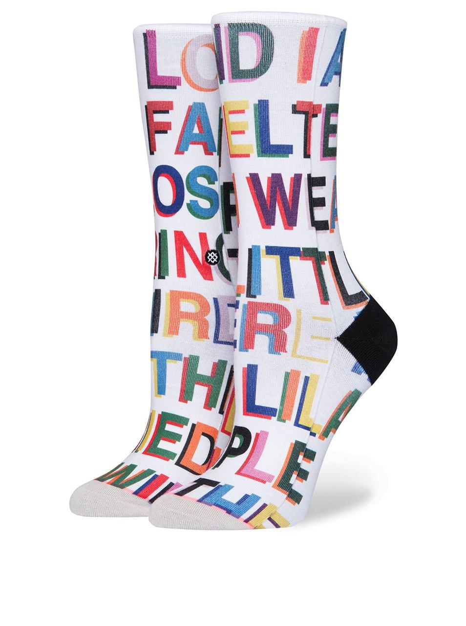 Bílé dámské ponožky s potiskem Stance Love Letters 674ecb55c7