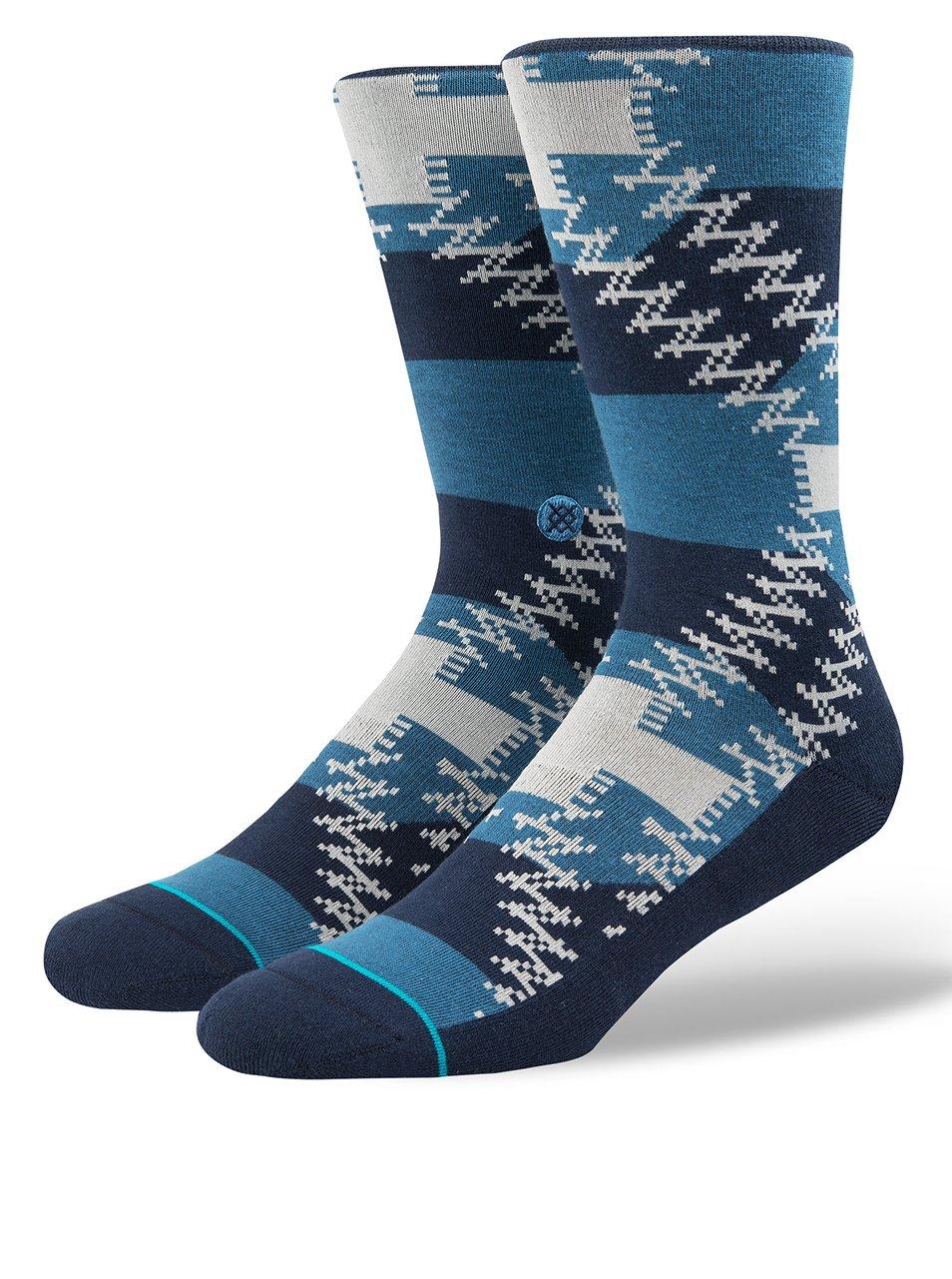Modré pánské vzorované ponožky Stance Mustang