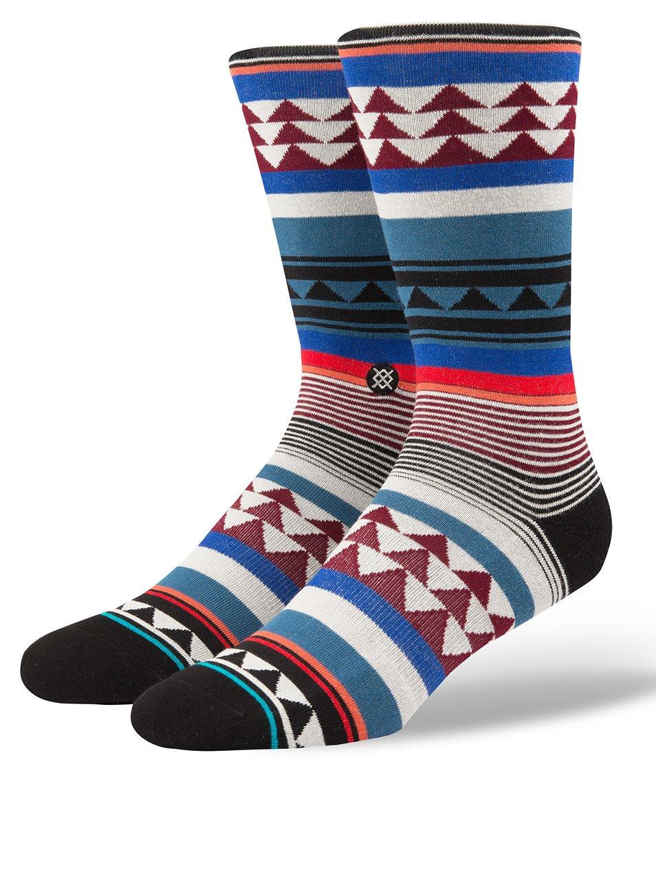 Vínovo-šedé pánské vzorované ponožky Stance Creek