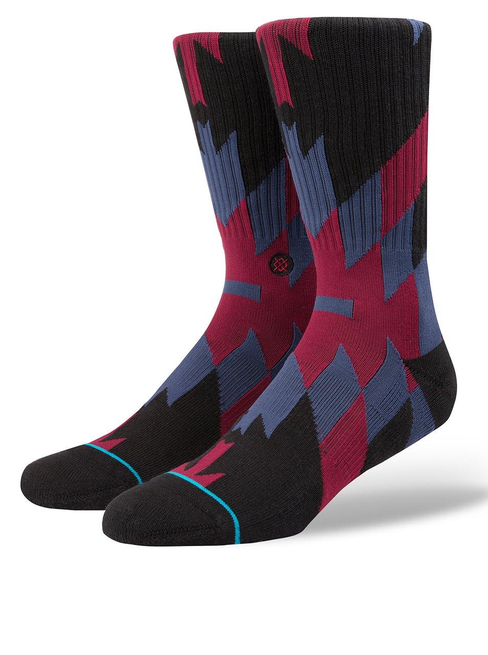 Černo-vínové pánské vzorované ponožky Stance Elite