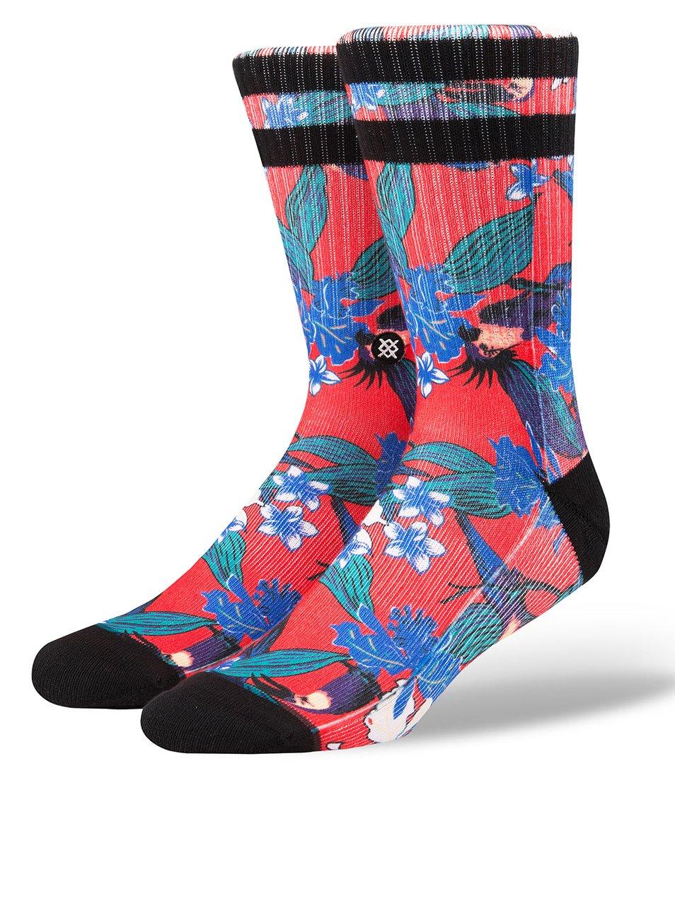 Zeleno-červené pánské vzorované ponožky Stance Buggin
