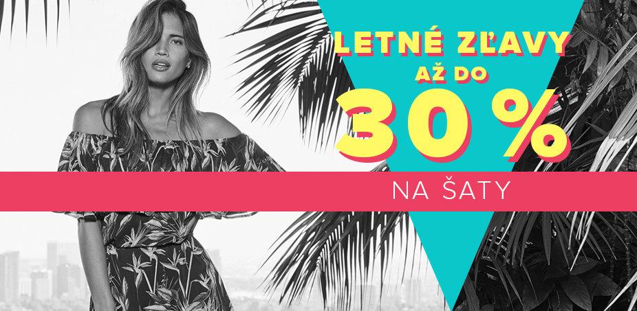 Letné zľavy 30 % na šaty ♀