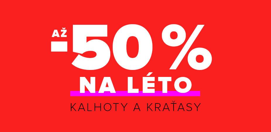 Až -50 % na léto: Kraťasy a kalhoty ♀