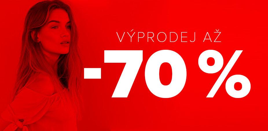Až 70% sleva = výprodej pro NI
