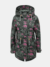 Jacheta parka kaki lejera florala cu imprimeu ONLY New Demi