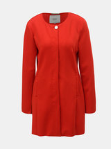 Červený tenký kabát ONLY Melissa