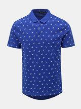 Modré polo tričko s potiskem ONLY & SONS Flamingo