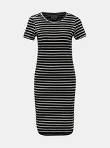 Čierne pruhované basic šaty Noisy May Summer