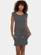 Šedé puntíkované šaty s páskem Ragwear Tag Dots
