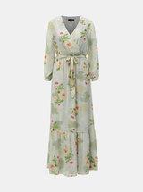 Rochie maxi verde deschis florala Dorothy Perkins