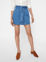 Fusta mini albastra din denim VERO MODA June
