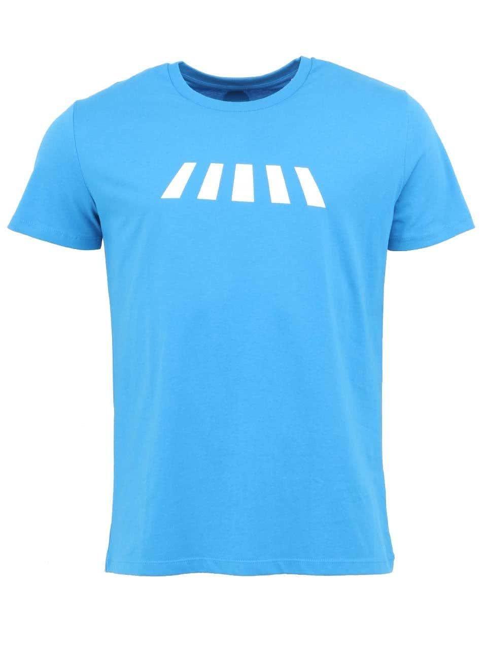 """""""Dobré"""" azurově modré pánské triko Zažít město jinak"""