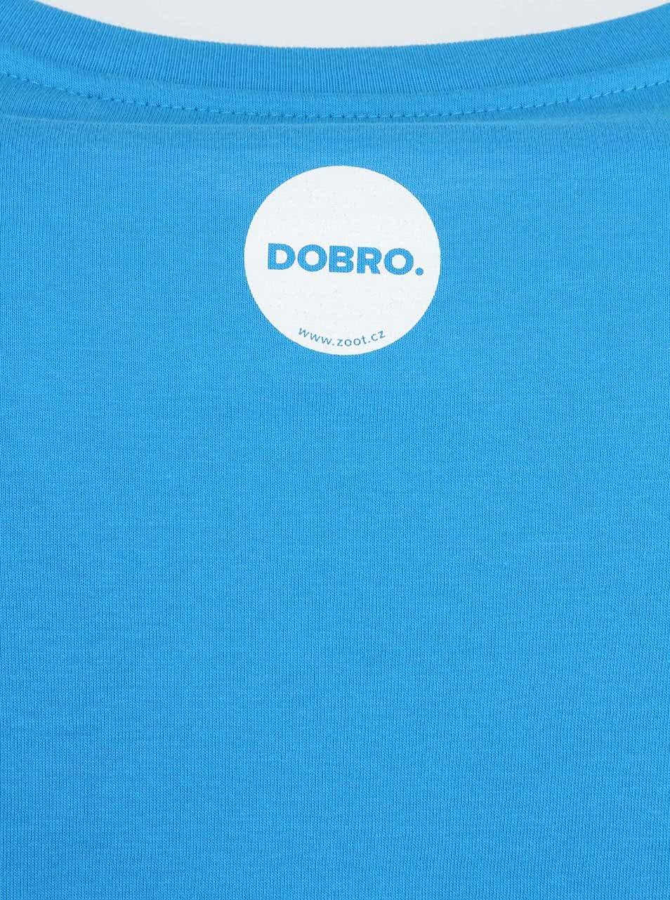 """""""Dobré"""" modré pánské triko Náplavka K světu."""