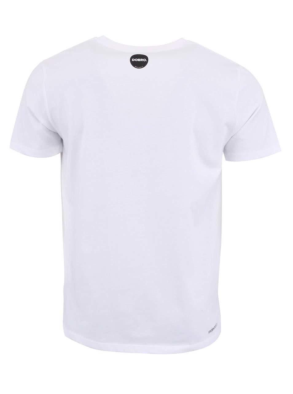 """""""Dobré"""" bílé pánské triko s kapsou Cesta domů"""