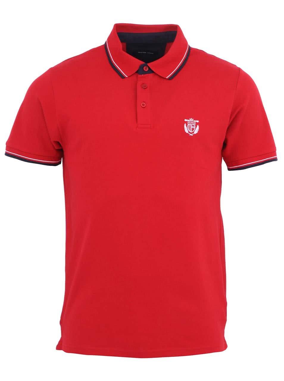 Červené polo triko Selected Season