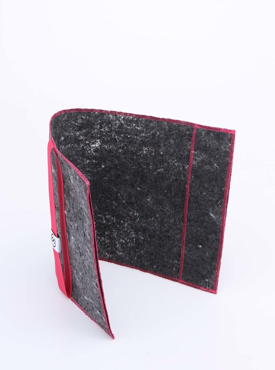 """""""Dobrý"""" obal na knihu s růžovou gumou FOREWEAR"""