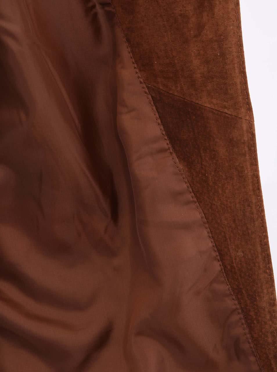 Hnědá semišová bunda na zip VERO MODA Forever