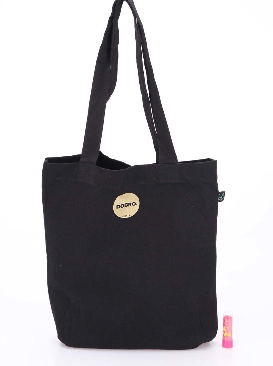 """""""Dobrá"""" zlato-černá unisex taška pro Nadační fond pro předčasně narozené děti a jejich rodiny"""