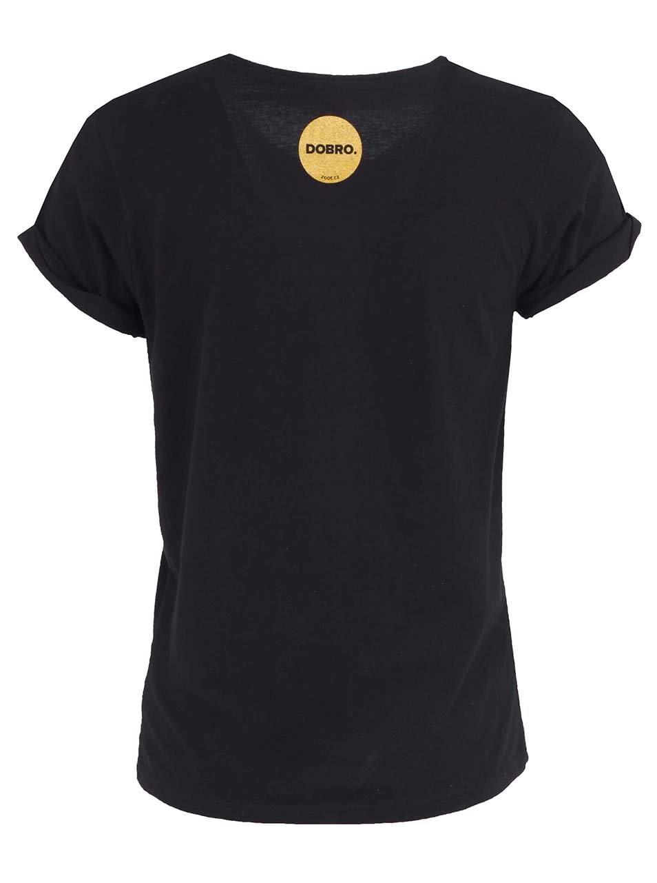 """""""Dobré"""" černé dámské tričko pro Nadační fond pro předčasně narozené děti a jejich rodiny"""
