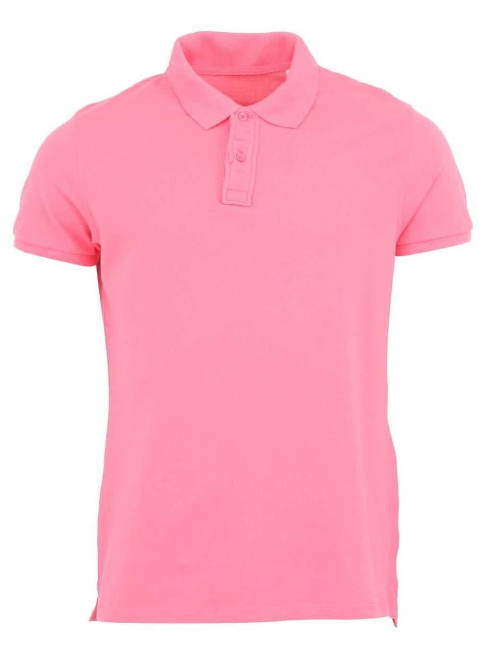 Růžové pánské polo triko Stanley & Stella Performs