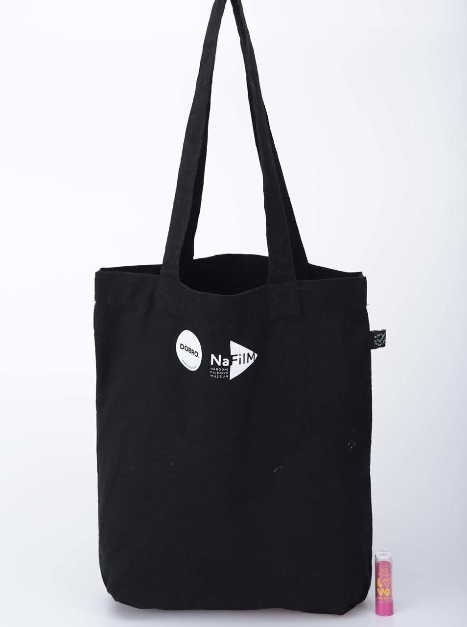 """""""Dobrá"""" černá plátěná taška pro NaFilM Hymna"""