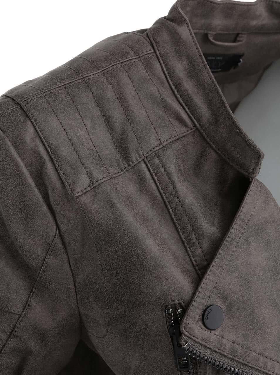 Šedohnědý kratší křivák s kapsami v semišové úpravě ONLY Biker