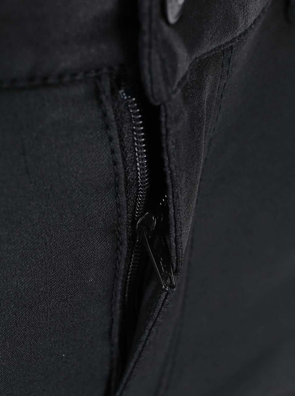 Černé slim fit kalhoty VERO MODA Seven