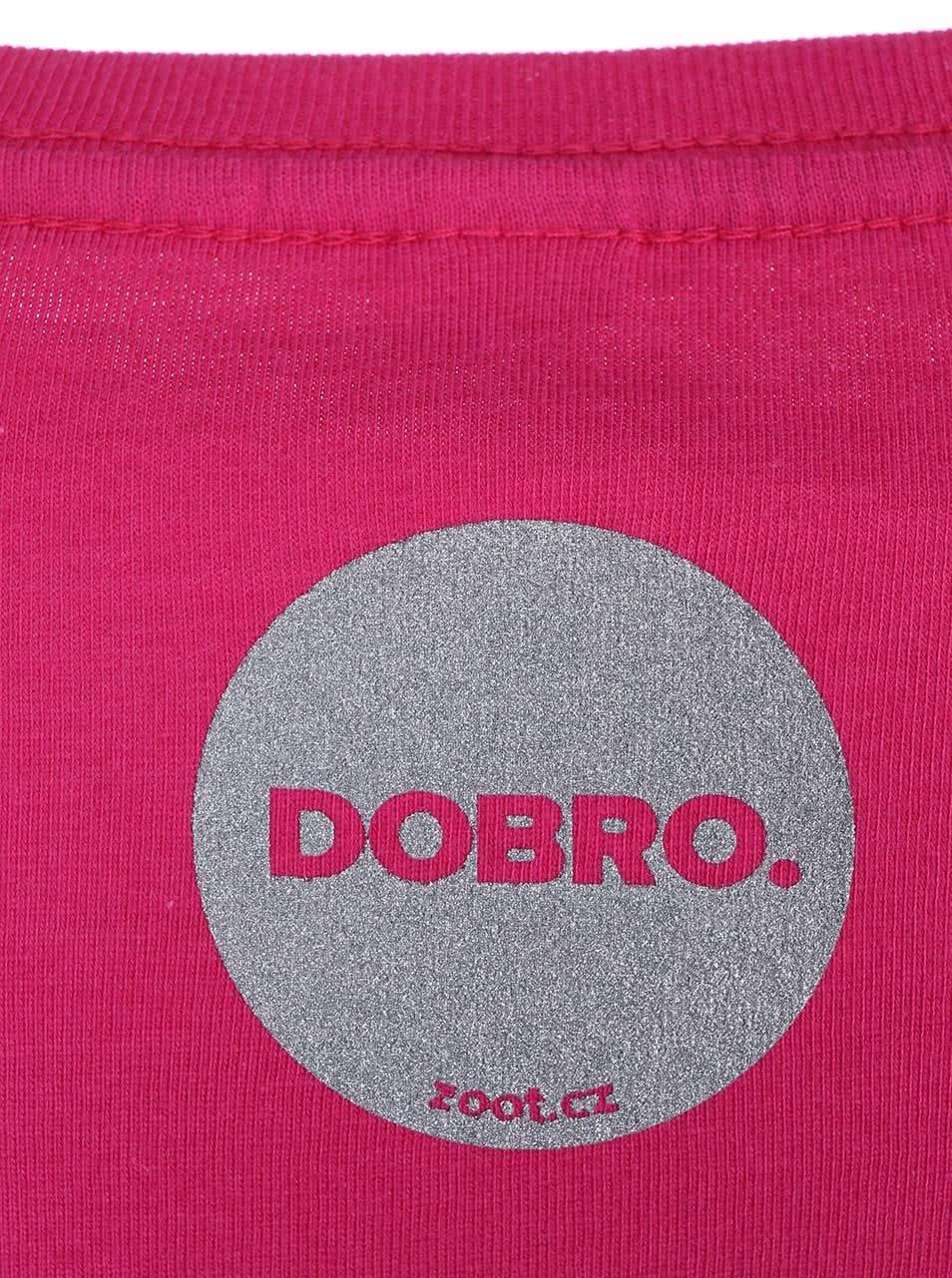 """""""Dobré"""" růžové dámské tričko pro Nadační fond pro předčasně narozené děti a jejich rodiny"""