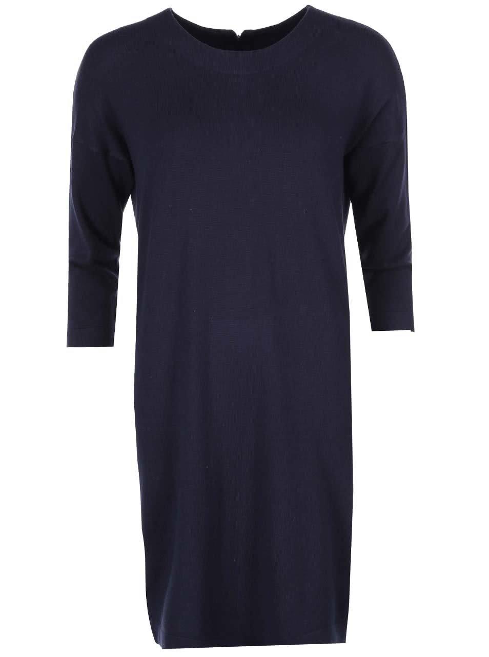 Tmavě modré volnější šaty VERO MODA Glory