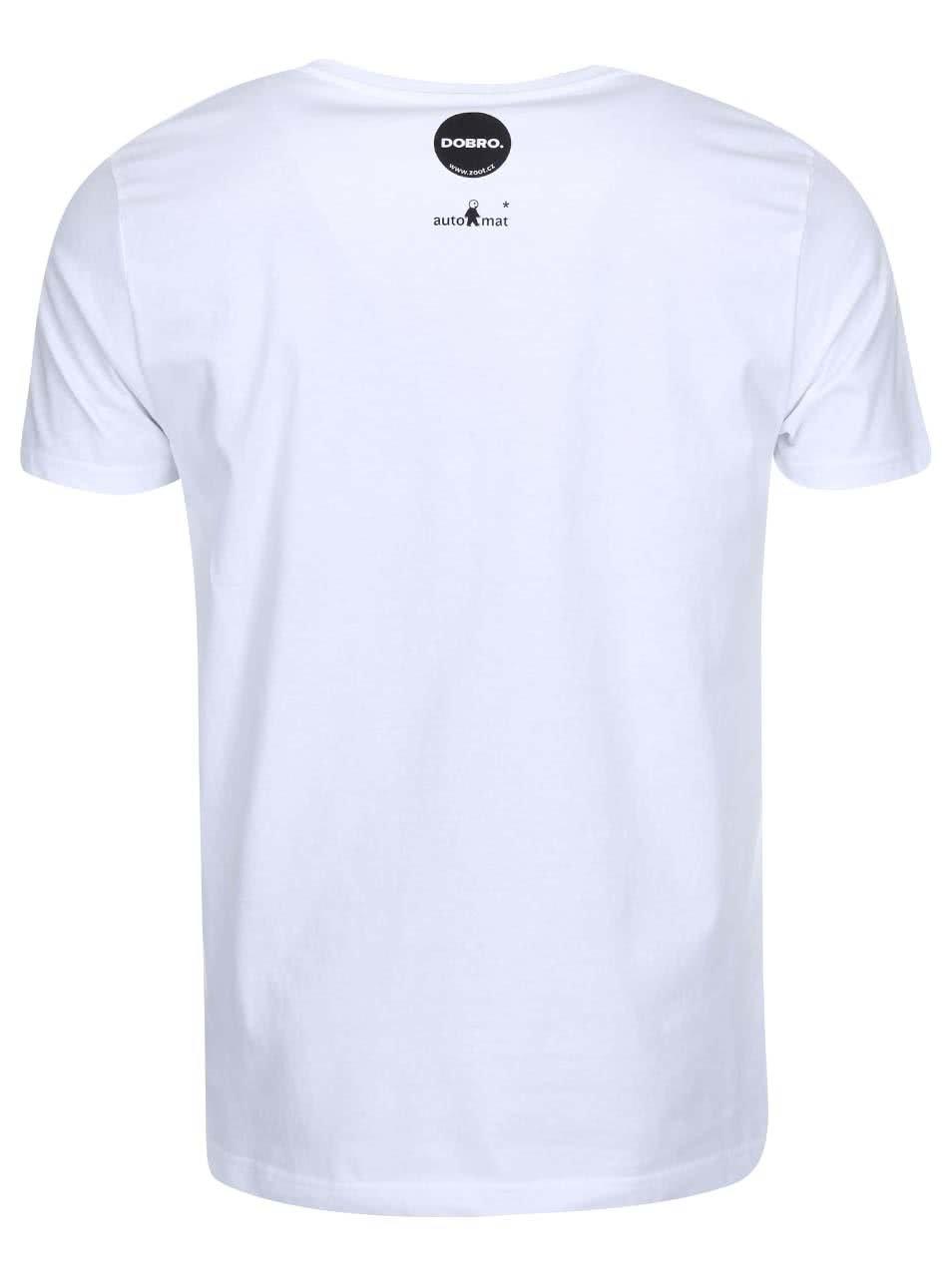 """""""Dobré"""" bílé pánské triko Zažít město jinak"""