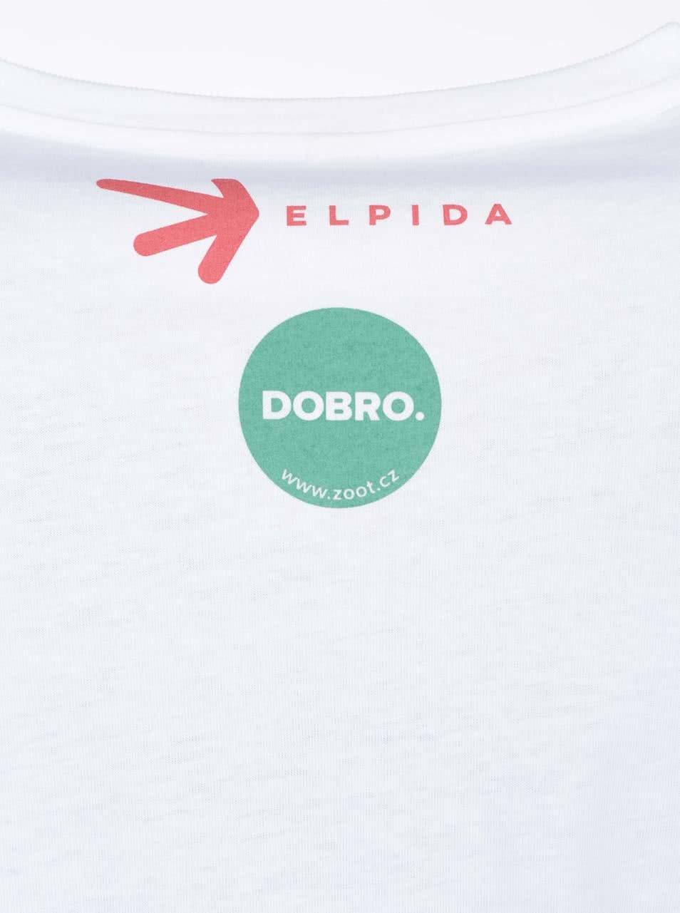 """""""Dobré"""" bílé pánské triko Elpida Starej mladej"""