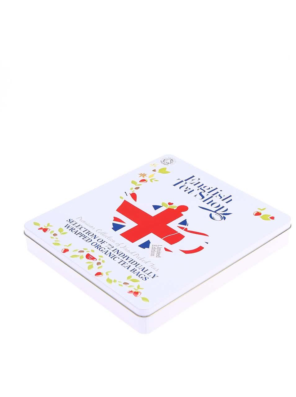 Plechová kazeta se 72 čaji English Tea Shop Diamond Jubilee