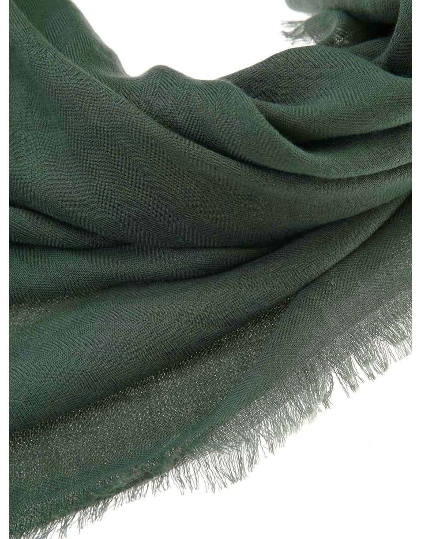 Zelený šátek s drobnými třásněmi INVUU London ... 6693023f82