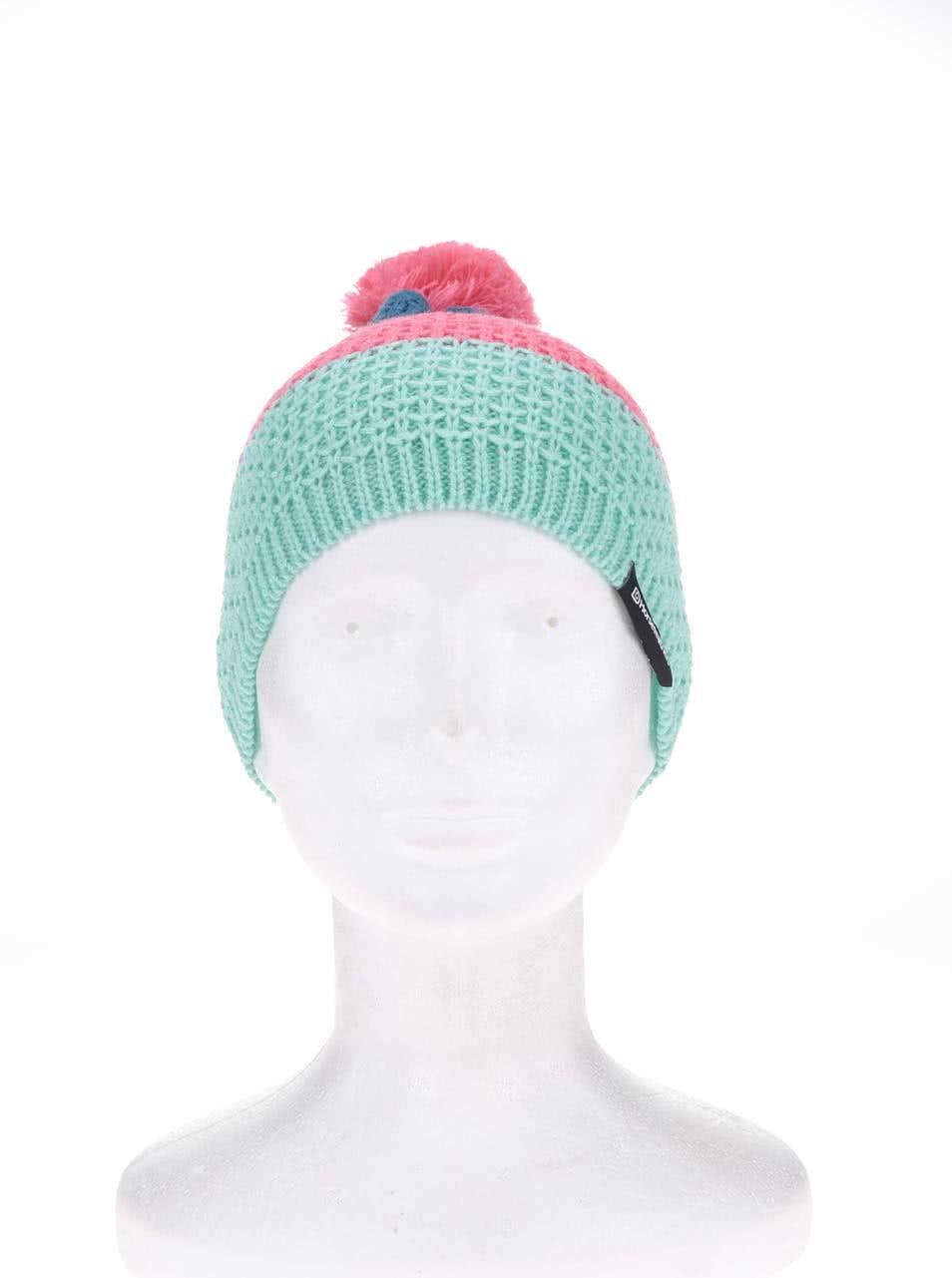 01b2225714d Modro-zeleno-růžová dámská čepice Horsefeathers Abbie ...