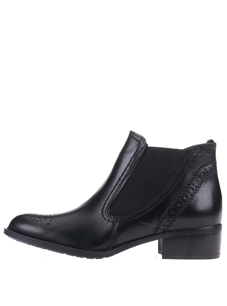 2fc3150cb89d0 Čierne dámske kožené členkové topánky Tamaris | ZOOT.sk