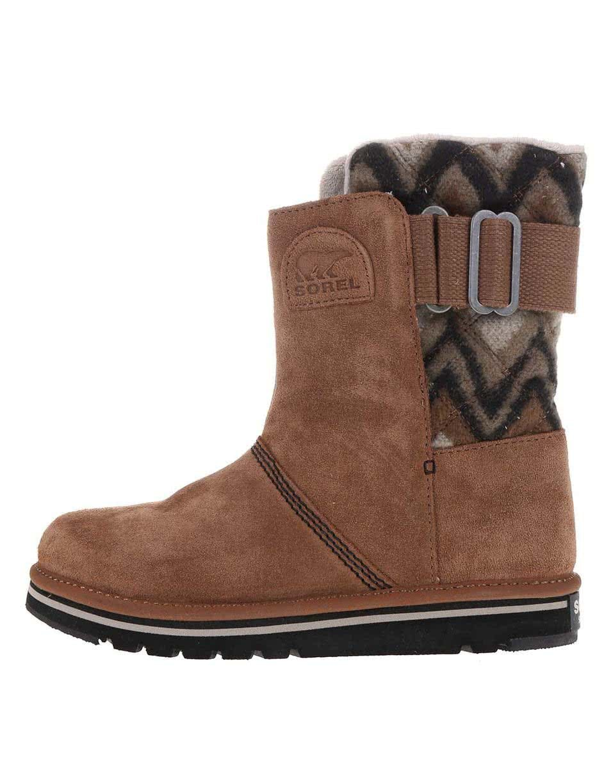 Hnedé dámske kožené zimné topánky SOREL The Campus ... 8448bf311f9