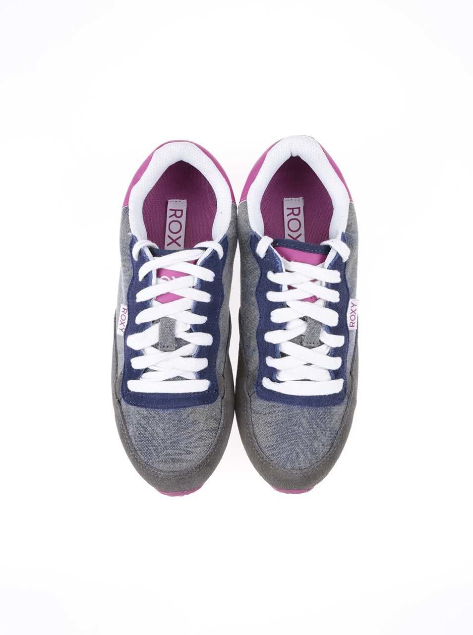 aadb36a349d4c Sivé tenisky s farebnými detailmi Roxy Run II | ZOOT.sk